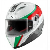Capacete Shark Race-r Pro Carbon Racing White Green Red