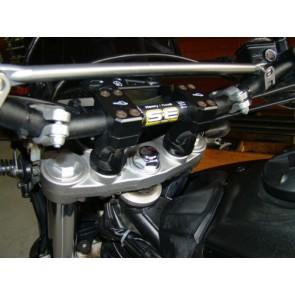 Adaptador-Riser-Kit Articulado p/ Guidao  Ø22 - PRETO - Suzuki DL1000